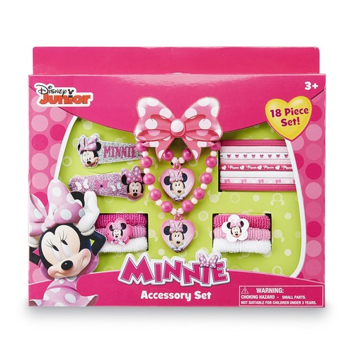 Disney Minnie Mouse Girl's 18-Piece Accessory Set