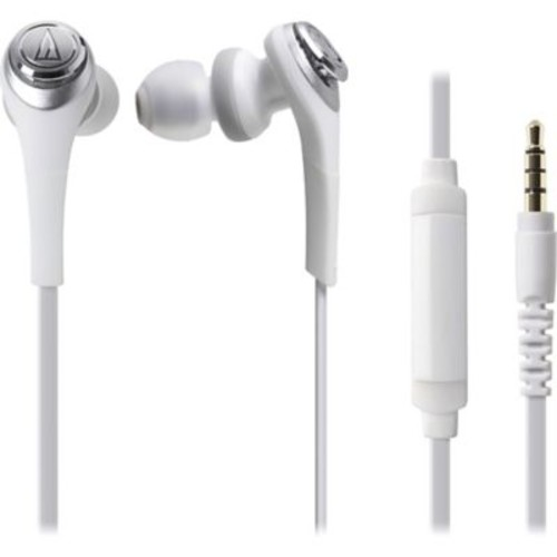 Audio-Technica Solid Bass In-Ear Headphones with In-line Mic & Control (1Y7933)