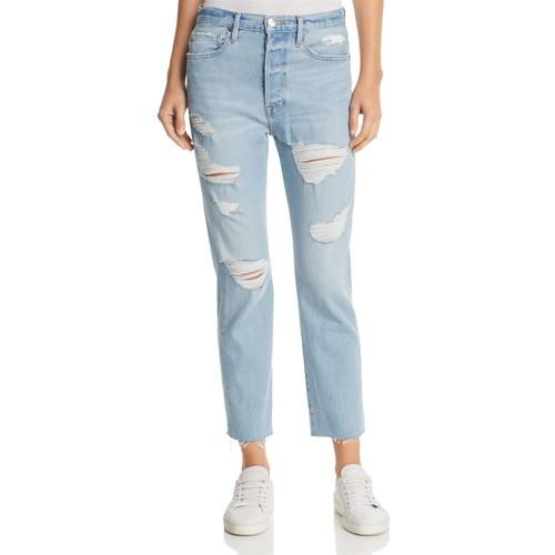 FRAME Le Original Raw Hem Jeans In Harrah