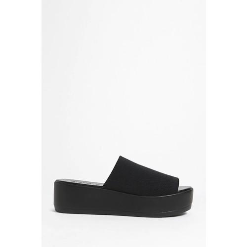 Textured Platform Slide Sandals