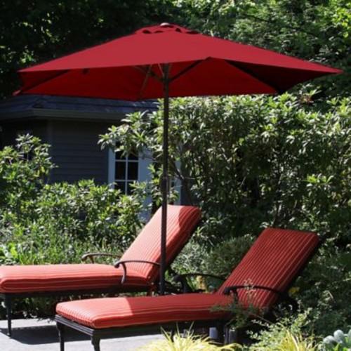 Pure Garden 9 Foot Aluminum Patio Umbrella with Auto Crank - Red (M150006)
