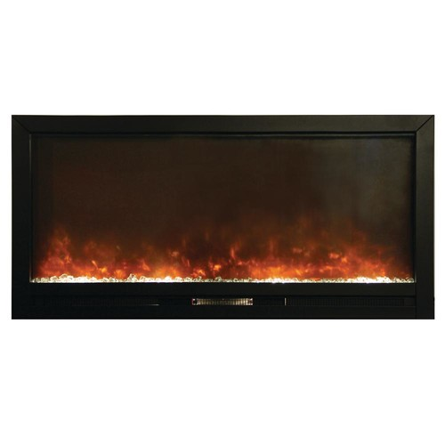 Y Decor Beautifier 50 in. Recessed Electric Fireplace in Black