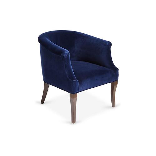Selby Club Chair, Navy Velvet