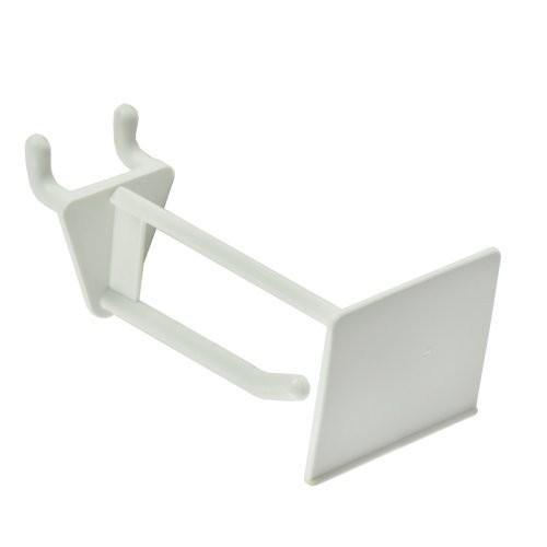 Azar 800012-WHT 2-Inch Glass-Filled Nylon Pegboard Scan Hook, White, 50-Pack
