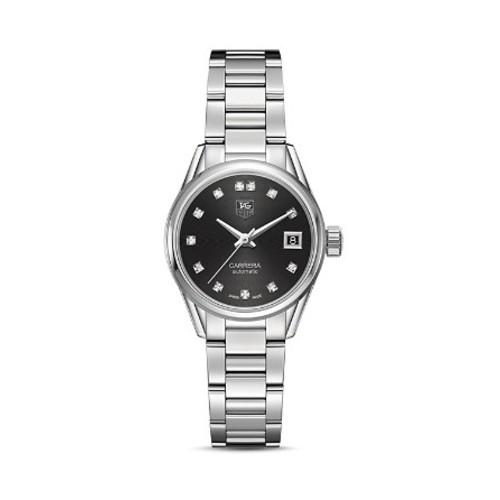 Carrera Calibre 9 Watch with Diamonds, 28mm