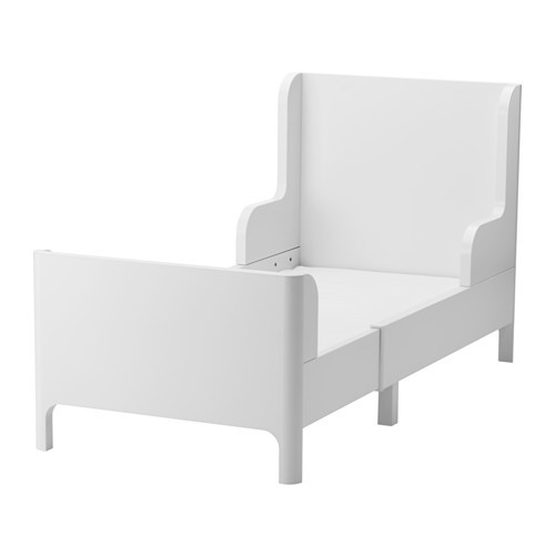 BUSUNGE Extendable bed, white