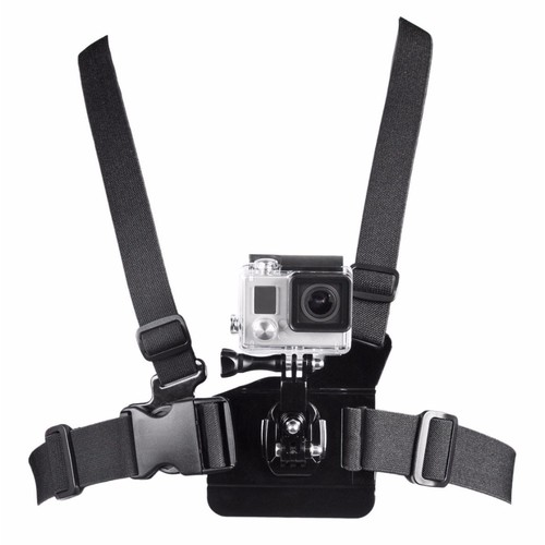 Bower Xtreme Action Series Chest Body Mount with Adjustable Strap for GoPro - Black (XAS-CBS)