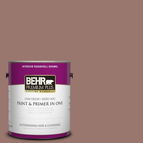 BEHR Premium Plus 1-gal. #N160-5 Chocolate Delight Eggshell Enamel Interior Paint