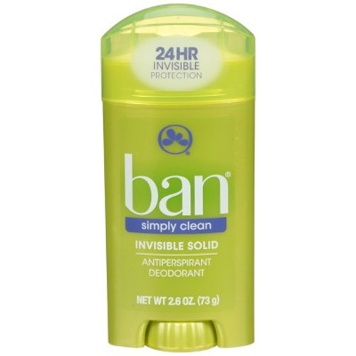 Ban 2.6 oz Simply Clean Solid Deodorant