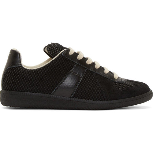 Black Mesh Replica Sneakers