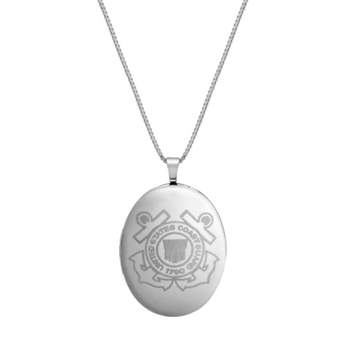 Sterling Silver United States Coast Guard Locket Necklace