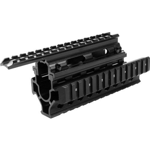 Aim Sports AK/Hungarian Tactical Quad Short Rail, Small, Black