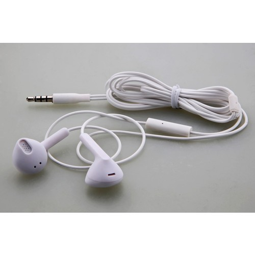 Earbuds with Mic & Remote (White)