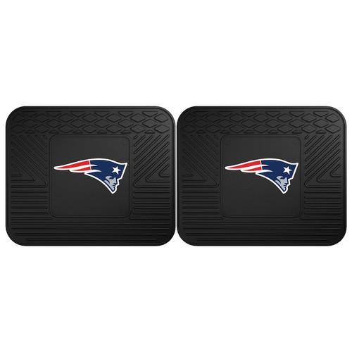 FANMATS New England Patriots 2-Pack Utility Backseat Car Mats
