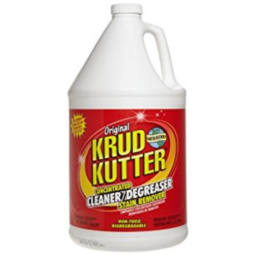 Krud Kutter KK012 Original Concentrated Cleaner Degreaser/Stain Remover with No Odor, 1 Gallon [Single Pack - 1 Gallon]