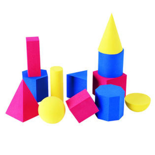 Learning Resources Hands-On Soft Geometric 12/Pk