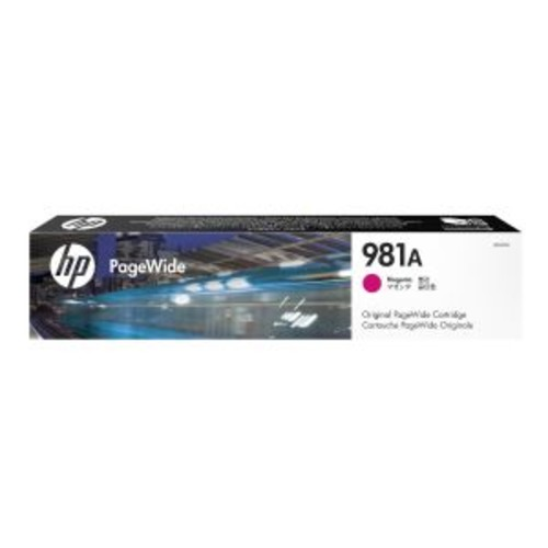 HP 981A - Magenta - original - PageWide - ink cartridge - for PageWide Enterprise Color MFP 586; PageWide Managed Color E55650