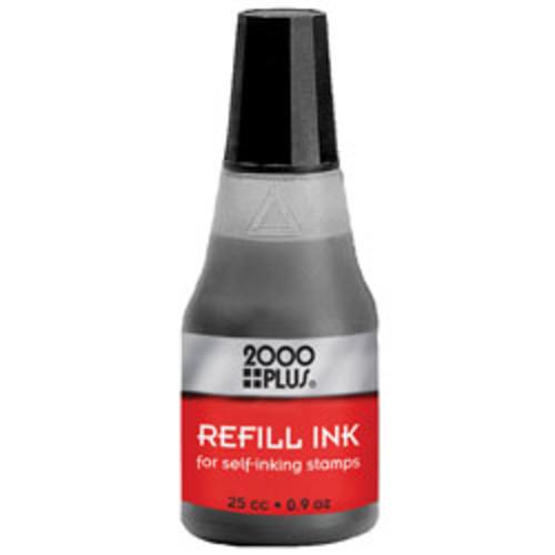 2000 PLUS Self-Inking Stamp Re-Ink Fluid, 1 Oz., Black