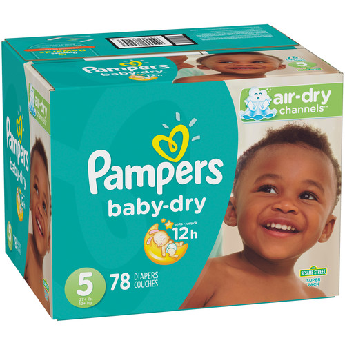 Pampers Baby Dry Size 5 Diapers Super Pack - 78 Count