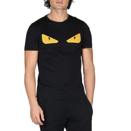 FENDI Monster Eyes Crewneck T-Shirt, Black