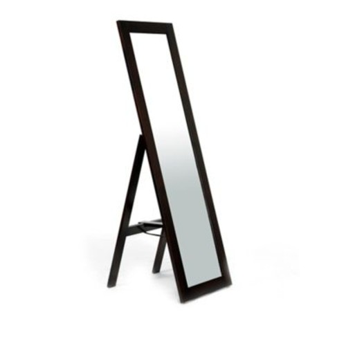 Baxton Studios Lundy Standing Mirror in Dark Brown