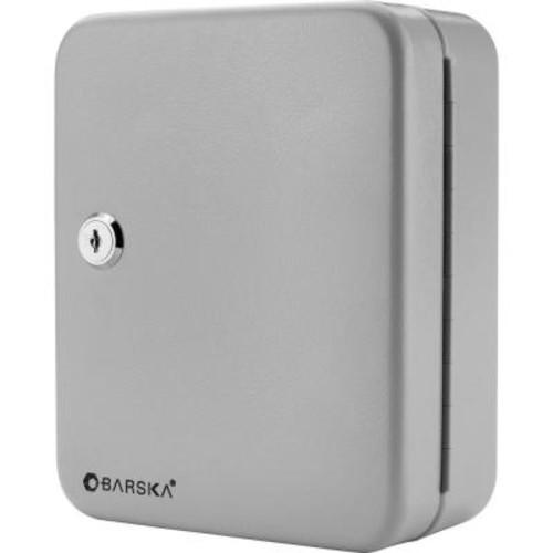 BARSKA 20-Position Steel Key Lock Box Safe with Key Lock, Gray