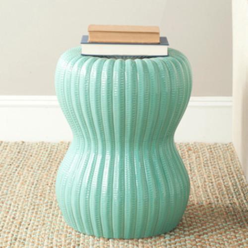 Safavieh Paradise Oval Light Blue Ceramic Garden Stool