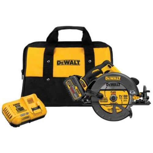 DEWALT FLEXVOLT 60-Volt MAX Lithium-Ion Cordless Brushless 7-1/4 in. Circular Saw with Battery 6Ah, 1-Hour Charger and Case