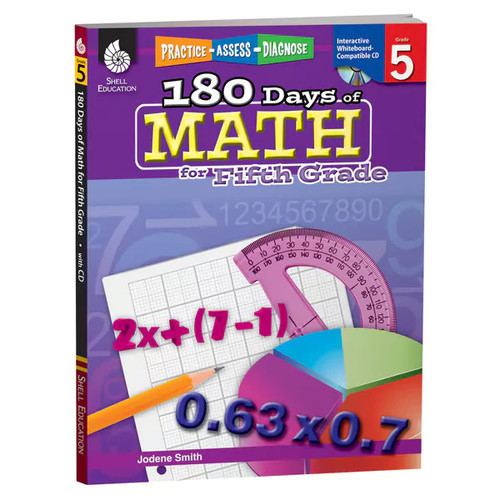 Shell Education Learning & Educational Toys 180 Days of Math, Grade 5