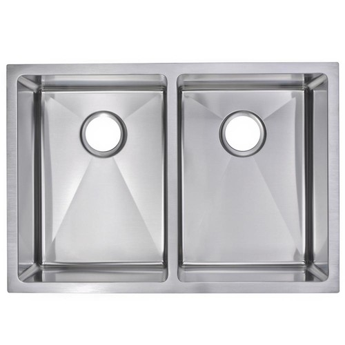 Water Creation Undermount Stainless Steel 29 in. 70/30 Double Bowl Kitchen Sink in Satin