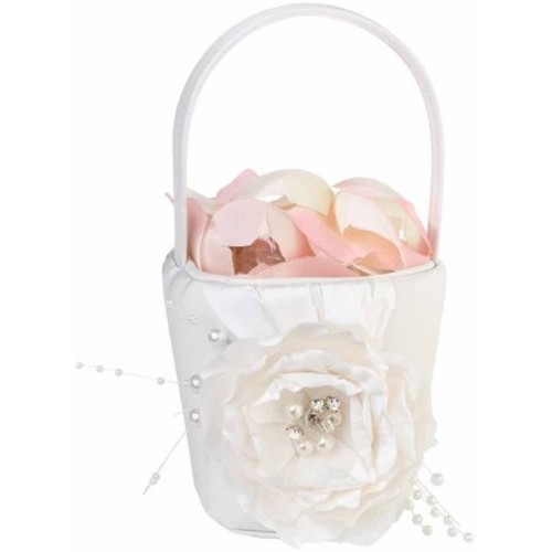 Lillian Rose Chic and Shabby Flower Girl Basket