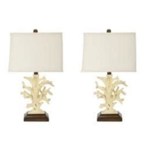 Safavieh Lighting 21-inch Beach Coral Table Lamps (Set of 2)