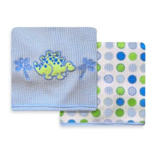 Spasilk Dinosaur 2-Pack Thermal Receiving Blanket