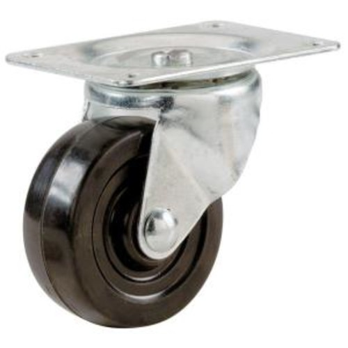 Shepherd 1-1/2 in. Soft Rubber Swivel Plate Caster with 40 lb. Load Rating