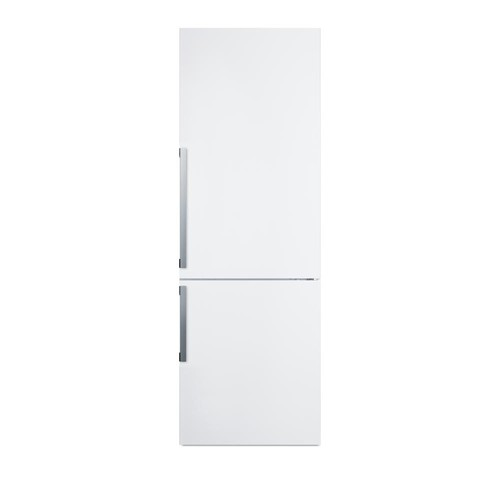 Summit Appliance 24 in. 11.35 cu. ft. Bottom Freezer Refrigerator in White, Counter Depth