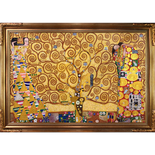The Tree of Life, Stoclet Frieze (Luxury Line) by Klimt Framed Hand Painted Oil on Canvas