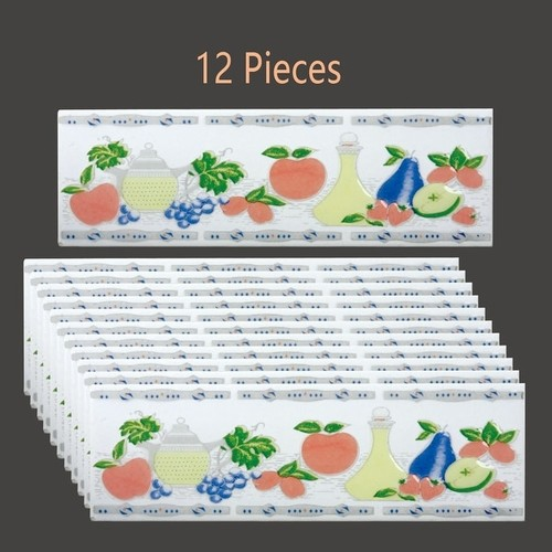 12 Pcs Ceramic Multi-Colored Tile 3 x 10