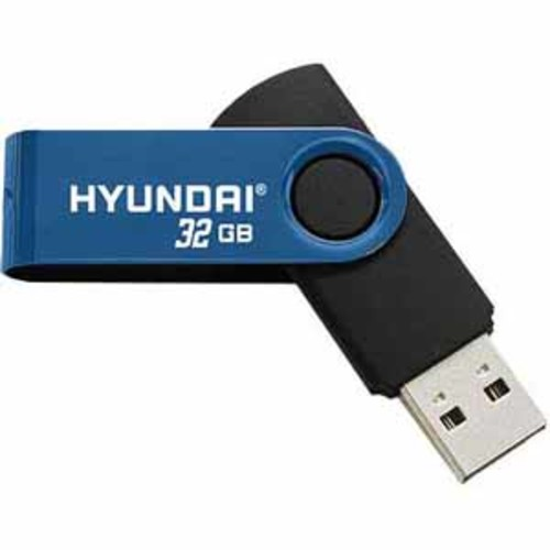 Hyundai 32GB Swivel USB 3.0 Flash Drive - Blue