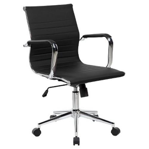 Modern Executive Chrome Chair Black - Techni Mobili