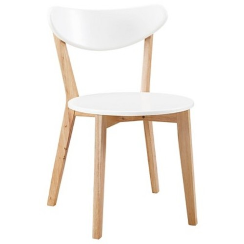 Retro Modern Wood Kitchen Dining Chairs - Set of 2 - Saracina Home