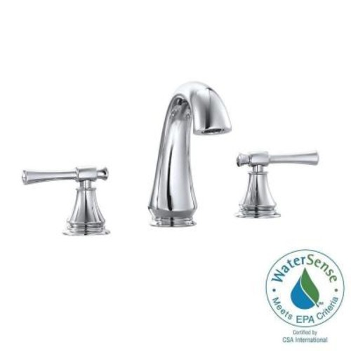 Avanity Triton 8 in. Widespread 2-Handle Mid-Arc Bathroom Faucet in Chrome with Drain