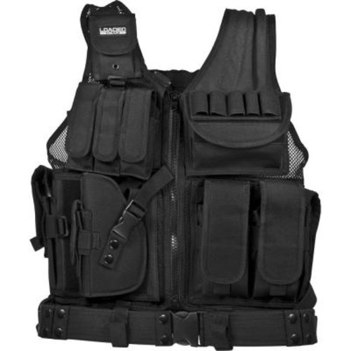 BARSKA Loaded Gear 25.5 in. VX-200 Left-Handed Tactical Vest, Black