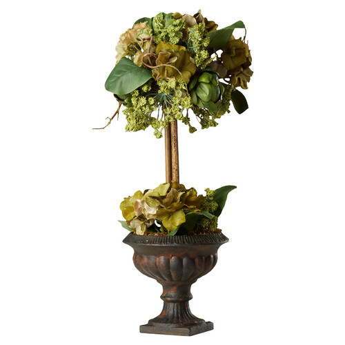 Artichoke Flower Arrangement Topiary in Urn