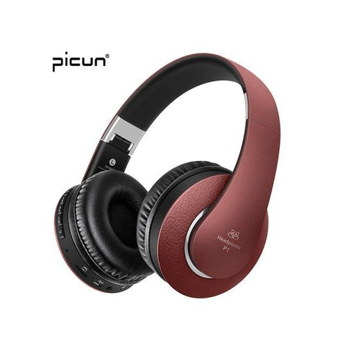 Original Picun Wireless Headsets Stereo Bluetooth Headphones with Microphone Support TF Card FM Radio for All Smartphone Laptop