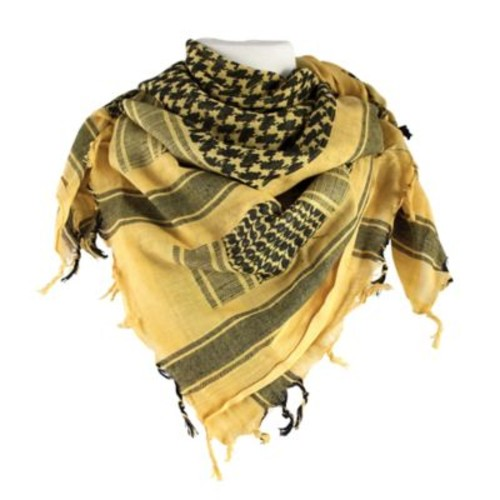 Red Rock Outdoor Gear Tactical Shemagh Head Wrap in Yellow/Black
