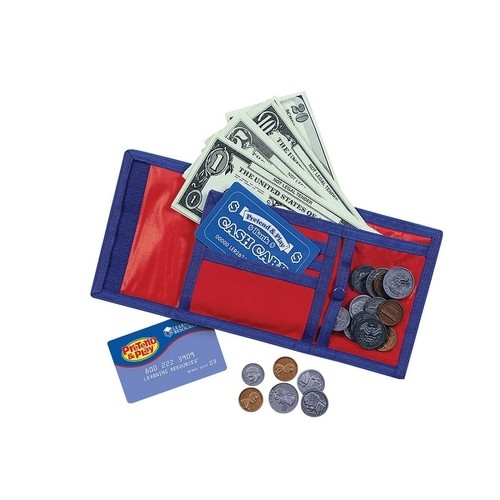 Learning Resources Pretend and Play Cash-N-Carry Wallet