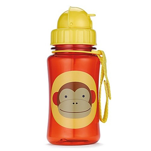 SKIP*HOP Zoo 12 oz. Monkey Straw Bottle