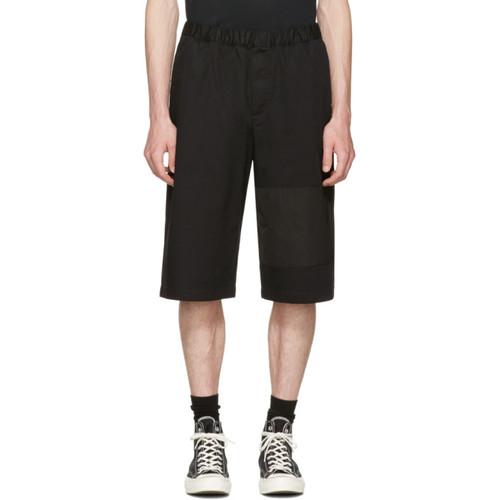 MCQ ALEXANDER MCQUEEN Black Panelled Chino Shorts
