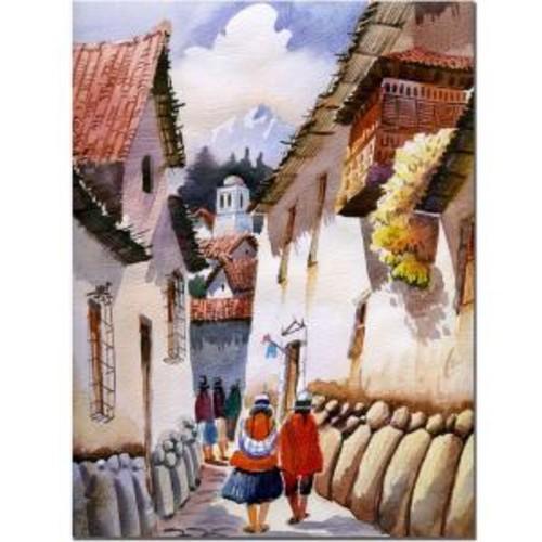 Trademark Fine Art 24 in. x 32 in. Cuzco II Canvas Art