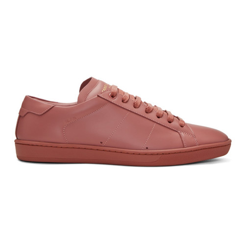 SAINT LAURENT Pink Sl/01 Court Classic Sneakers